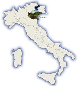 Veneto Italy map
