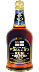 Pusser's British Navy Gunpowder Proof Rum