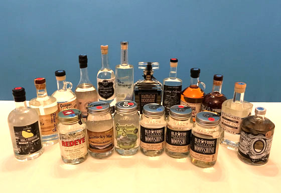The Fifty Best Moonshine & Unaged American Whiskey Tasting of 2017