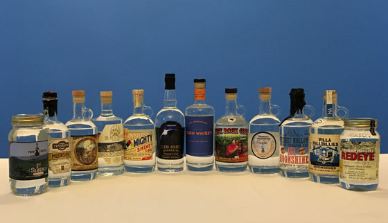 The Fifty Best Moonshine & Unaged American Whiskey Tasting of 2018