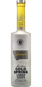 Bozeman Spirits Distillery Montana Cold Spring Lemon Vodka