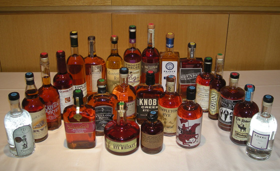 The Great Rye Whiskey Tasting of 2013