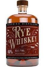 Bluebird Distilling Rye Whiskey