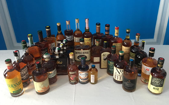The Fifty Best Rye Whiskey Tasting 2018