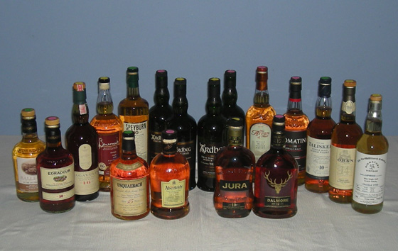 The Fifty Best Single Malt Scotch 10-15 yo Tasting 2013