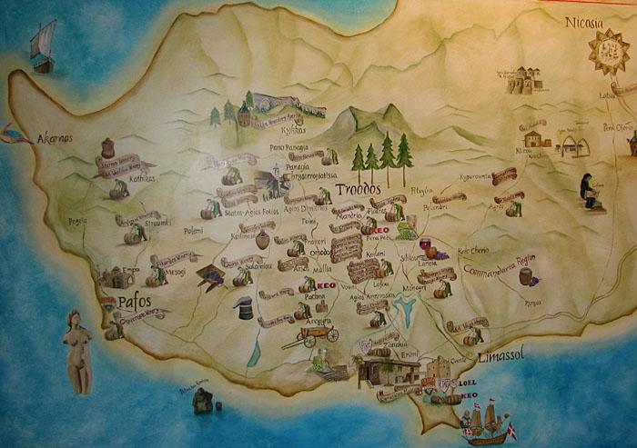 Cyprus wine regions