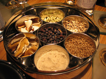 Botanicals used in gin
