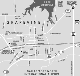 Map of Grapevine