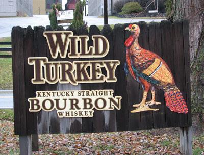 Wild Turkey distillery entrance