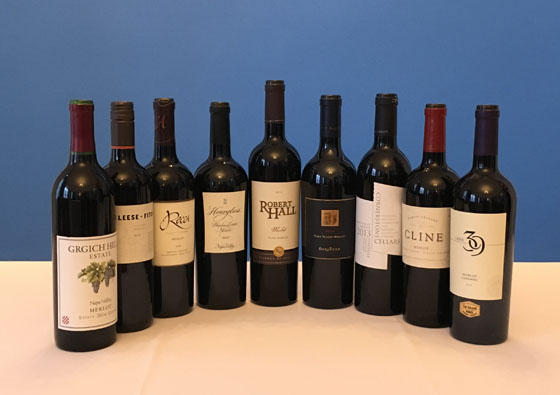 The Fifty Best California Merlot Tasting of 2017