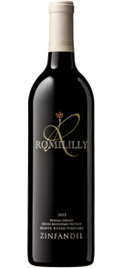 Romililly 2013 Zinfandel Monte Rosso Vineyard Moon Mountain District