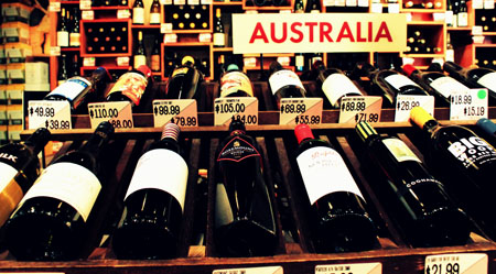 Australian wine section